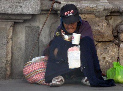 Comida en la calle del centro de Arequipa
