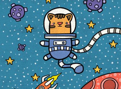 Ilustración Un gato especial